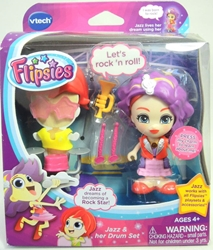 Vtech Flipsies 3.5 inch figure - Jazz & her Drum Set Vtech, Flipsies, Dolls, 2015, family