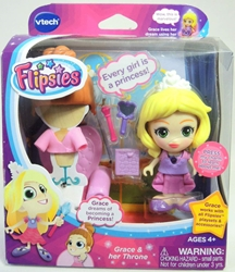 Vtech Flipsies 3.5 inch figure - Grace & her Throne Vtech, Flipsies, Dolls, 2015, family