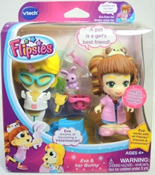 Vtech Flipsies 3.5 inch figure - Eva & her Bunny Vtech, Flipsies, Dolls, 2015, family