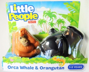 Fisher-Price Little People Animals Zoo - Orca Whale & Orangutan Fisher-Price, Little People, Preschool, 2015, kidfare