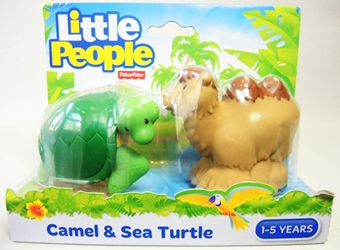Fisher-Price Little People Animals Zoo - Camel & Sea Turtle Fisher-Price, Little People, Preschool, 2015, kidfare