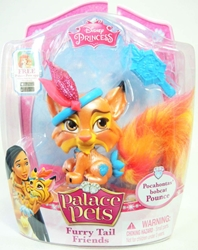 Palace Pets Furry Tail Friends - Pocahontas Bobcat Pounce Blip Toys, Disney, Littlest Pet Shop, 2014, fantasy, movie