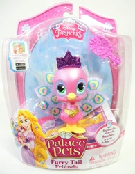 Palace Pets Furry Tail Friends - Rapunzels Peacock Sundrop Blip Toys, Disney, Littlest Pet Shop, 2014, fantasy, movie