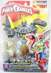 Power Rangers Mix N Morph Figure - Black T-Rex Rangerzord Bandai, Power Rangers, Action Figures, 2015, scifi, tv show