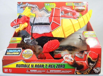 Power Rangers Dino Charge - Rumble N Roar T-Rex Zord 17 inch Bandai, Power Rangers, Action Figures, 2015, scifi, tv show
