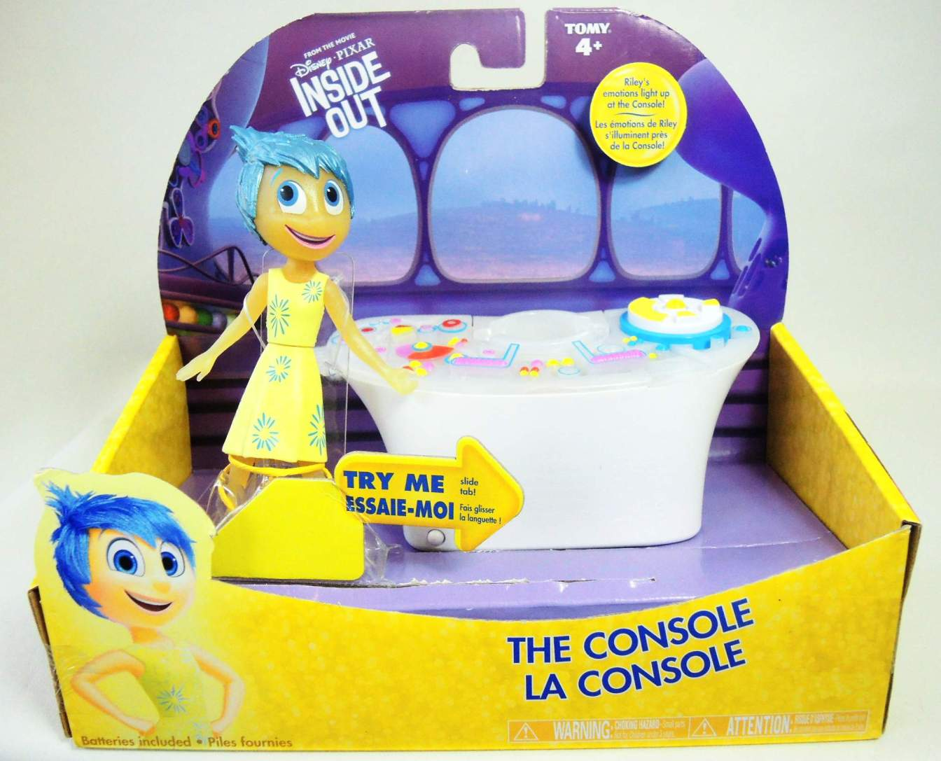 Disney Pixar Inside Out - Console with Joy figure Tomy, Inside Out, Action Figures, 2015, kidfare, cartoon