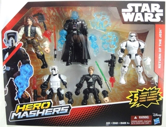 Star Wars Hero Mashers - Return of the Jedi 5-figure set Hasbro, Star Wars, Action Figures, 2015, scifi, movie