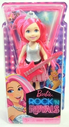 Barbie in Rock N Royals Chelsea Doll (silver top)
