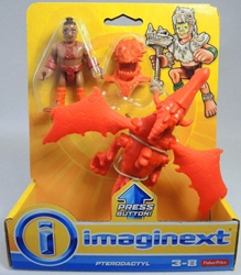 Fisher-Price Imaginext Pterodactyl & tribal warrior