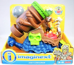 Fisher-Price Imaginext Ankylosaurus & tribal warrior