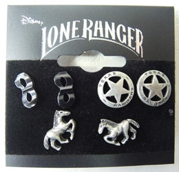 NECA The Lone Ranger Earrings pack (3 pairs) NECA, The Lone Ranger, Action Figures, 2013, western, movie