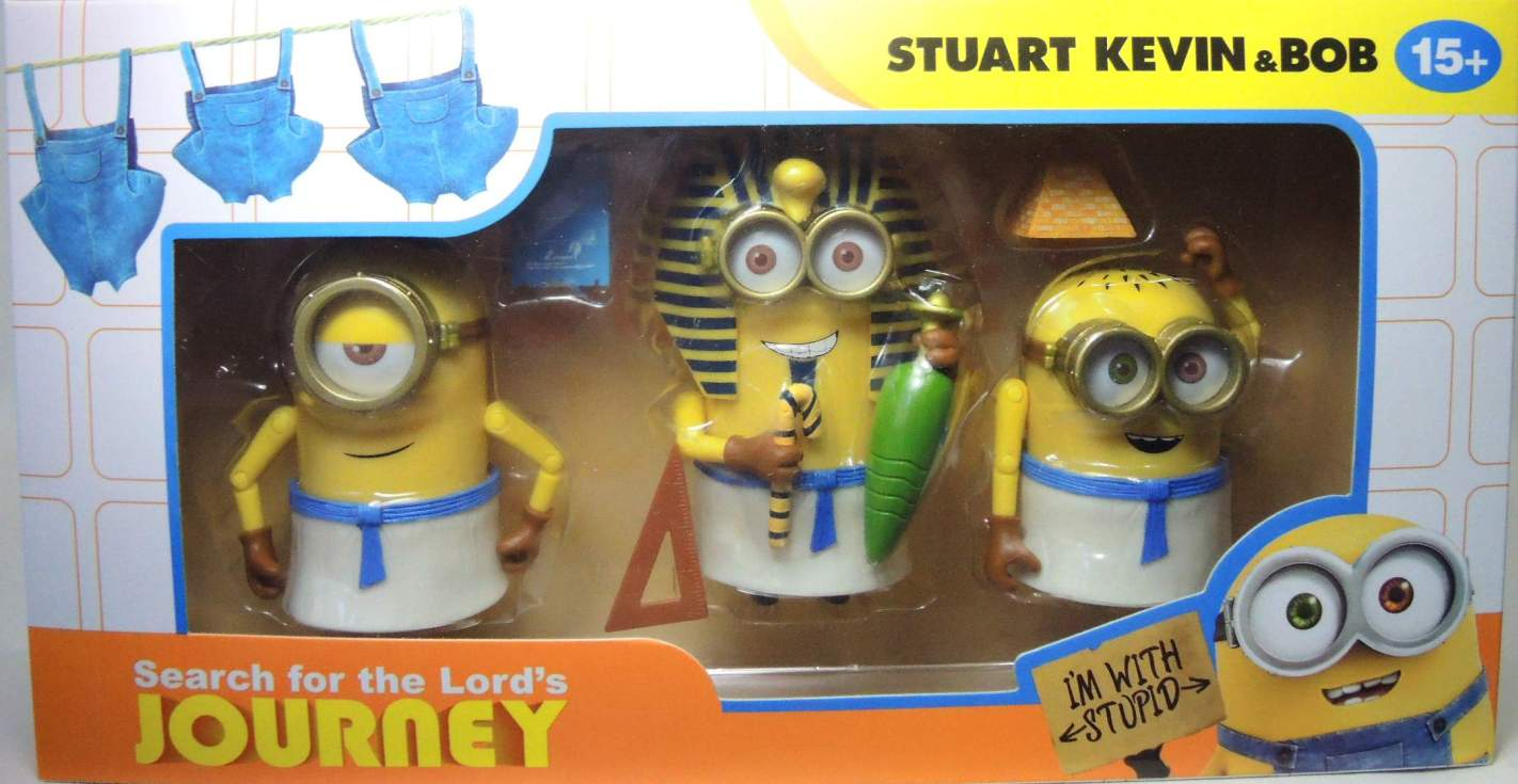 Despicable Me Minions 3-pack - Stuart Kevin & Bob in Egypt China, Despicable Me, Action Figures, 2016, animated, movie