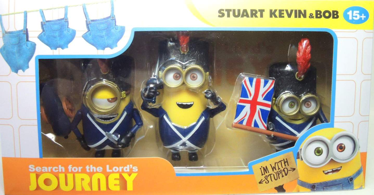 Despicable Me Minions 3-pack - Stuart Kevin & Bob as British soldiers China, Despicable Me, Action Figures, 2016, animated, movie
