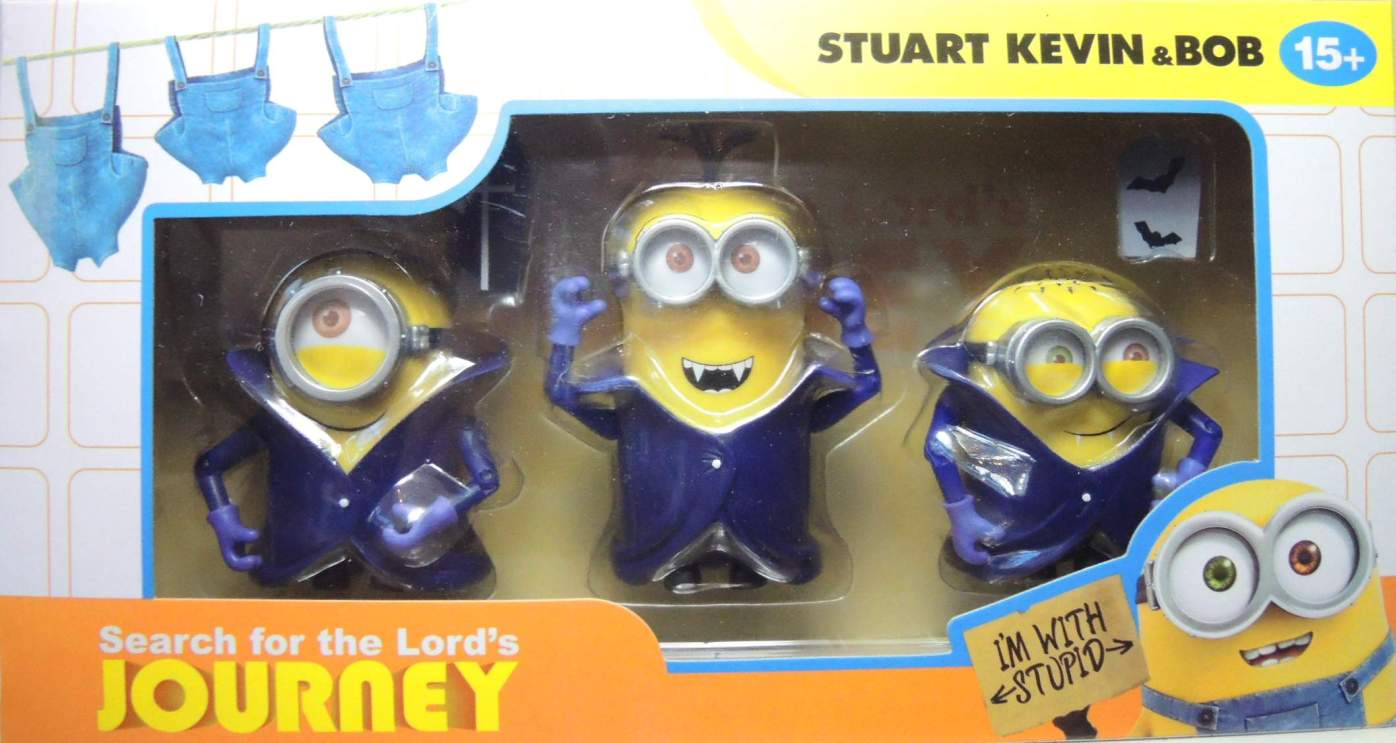 Despicable Me Minions 3-pack - Stuart Kevin & Bob as Vampires China, Despicable Me, Action Figures, 2016, animated, movie