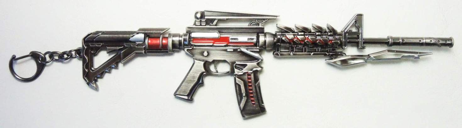 CrossFire  8 inch Assault Rifle alloy model keychain China, CrossFire, Keychains, 2016|Color~gunmetal, action, video game
