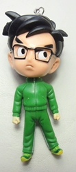 Dragon Ball Gohan 4.1 inch Figure with keychain atop head China, Dragon Ball Z, Keychains, 2016|Color~green, educational