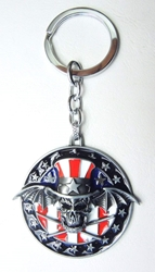 Avenged Sevenfold Deathbat as Uncle Sam alloy keychain