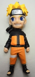 Naruto Uzumaki 4 inch PVC Figure with keychain atop head China, Naruto, Keychains, 2016|Color~orange|Color~black|Color~yellow, educational
