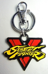 Street Fighter Logo metal alloy keychain China, Street Fighter, Keychains, 2016|Color~red|Color~yellow, warriors, video game