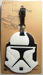 Star Wars Soft Plastic Luggage Tag - Stormtrooper China, Star Wars, Luggage Tag, 2015|Color~white|Color~black, scifi, movie
