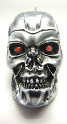 Terminator T-800 Skull metal alloy keychain China, Terminator, Keychains, 2016|Color~Silver, scifi, movie