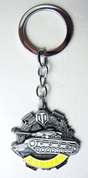 World of Tanks Dumitru Medal alloy keychain China, World of Tanks, Keychains, 2016|Color~Pewter|Color~yellow, military, video game
