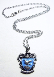 Harry Potter alloy pendant necklace - Crest of Ravenclaw China, Harry Potter, Necklace, 2015|Color~blue|Color~pewter, fantasy, book