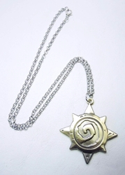 Hearthstone brass-tone alloy necklace China, Hearthstone, Necklace, 2015|Color~bronze, fantasy, game