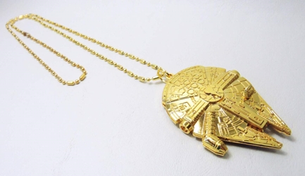 Star Wars Millennium Falcon Spaceship alloy pendant necklace (gold) China, Star Wars, Necklace, 2015|Color~gold, scifi, movie