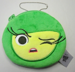 Inside Out Disgust plush purse with zipper closure China, Inside Out, Plush, 2016|Color~green, kidfare, cartoon