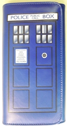 Doctor Who Tardis pleather Wallet 7.5 x 4 inches China, Dr Who, Cosplay, 2016|Color~pewter, scifi, tv show