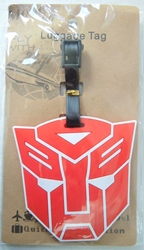Transformers Autobot logo Luggage Tag (red) China, Transformers, Luggage Tag, 2015|Color~red|Color~white, scifi, movie