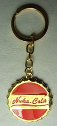 Fallout 4 Alloy keychain - Nuka Cola medallion China, Fallout, Keychains, 2016|Color~red|Color~brass, scifi, video game