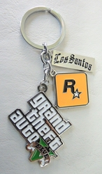 Grand Theft Auto V alloy keychain China, Grand Theft Auto, Keychains, 2016|Color~silver|Color~white, adventure, video game