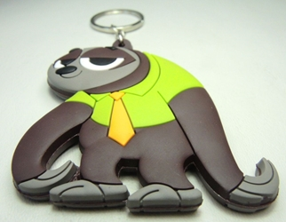 Zootopia  Soft Plastic Keychain - Flash Slothmore China, Zootopia, Keychains, 2016|Color~grey|Color~green, cute animals