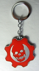 Gears of War Steel alloy keychain - Crimson Omen on Gear China, Gears of War, Keychains, 2016|Color~steel|Color~red, scifi, video game