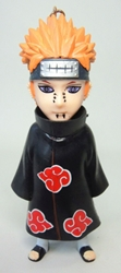 Naruto 4 inch Figure with keychain atop head - Yahiko China, Naruto, Keychains, 2016|Color~black|Color~red|Color~orange|Color~fleshtone, educational