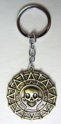 Pirates of the Caribbean - Aztec medallion keychain China, Pirates of the Caribbean, Keychains, 2016|Color~bronze, pirates, movie
