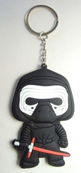 Star Wars 3 inch Soft Plastic keychain - Kylo Ren China, Star Wars, Keychains, 2016|Color~black|Color~white, scifi, movie