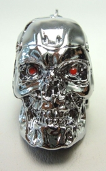 Terminator T-800 Skull metal alloy keychain - bright chrome finish China, Terminator, Keychains, 2016|Color~Chrome, scifi, movie