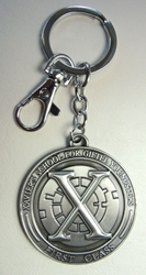 X-Men Xavier School For Gifted Youngsters First Class alloy keychain China, X-Men, Necklace, 2015|Color~pewter, superhero, movie