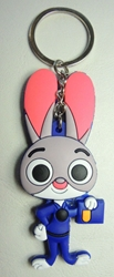 Zootopia  Soft Plastic Keychain - Judy China, Zootopia, Keychains, 2016|Color~grey|Color~pink|Color~navy, cute animals