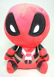 Deadpool 8 inch plush China, Deadpool, Plush, 2016|Color~red|Color~black, comedy, movie