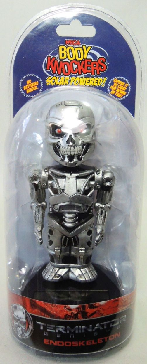 NECA Terminator Genisys Solar-Powered Body Knocker - Endoskeleton NECA, Terminator, Bobble-Heads, 2016, scifi, movie