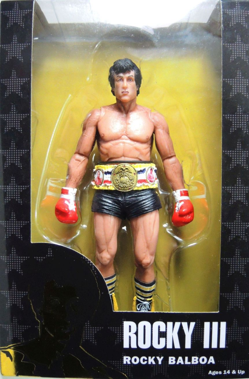 NECA Rocky 40th Anniversary Series 1 figure - Rocky Balboa (black trunks & belt)