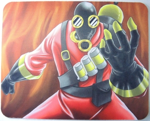 Team Fortress 2 Mouse Pad - Red Pyro China, Team Fortress, Mouse Pads, 2016, scifi, video game