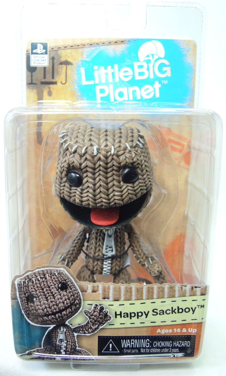 NECA Little Big Planet 5 inch Series 2 figure - Happy Sackboy NECA, Little Big Planet, Action Figures, 2016, animated, video game