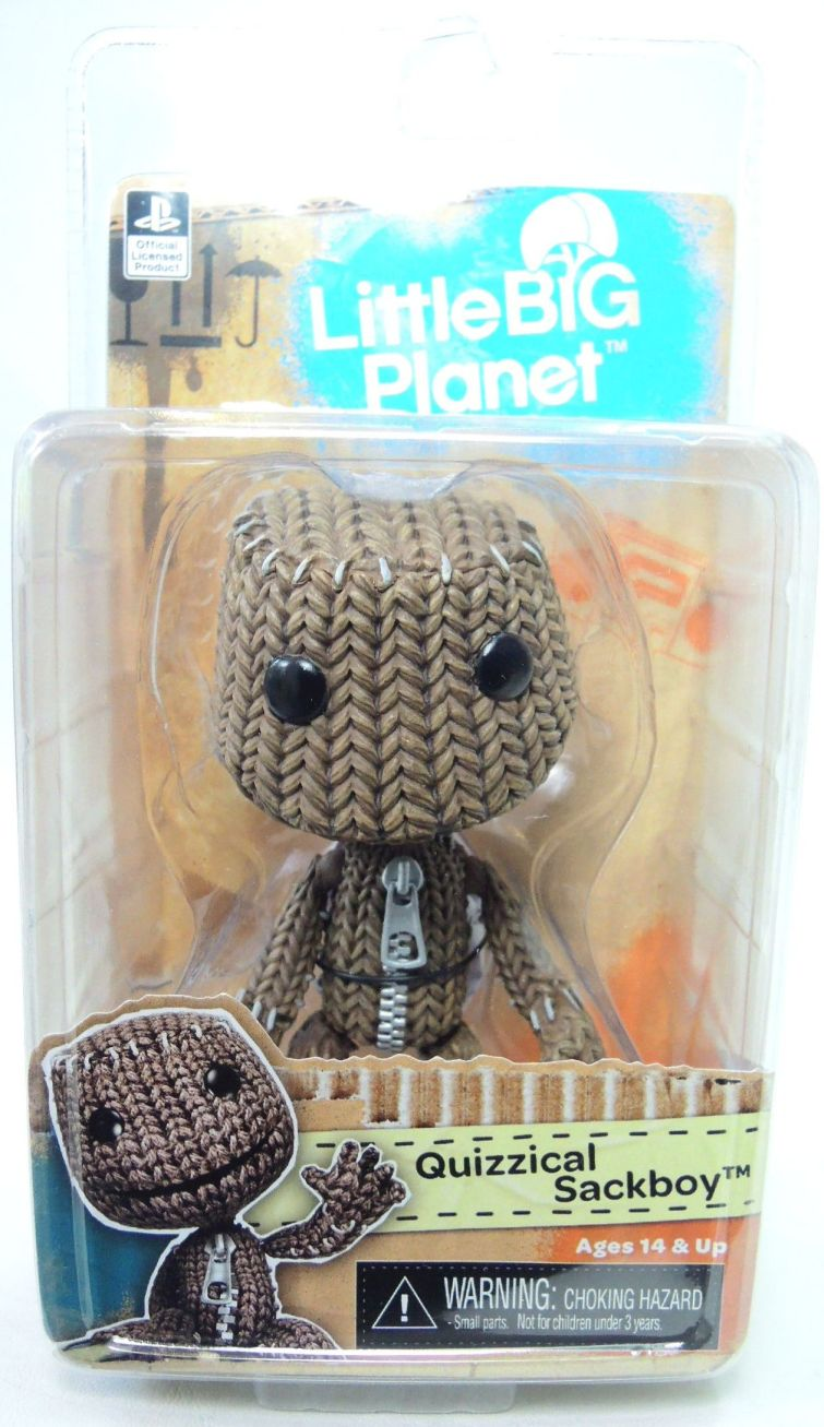 NECA Little Big Planet 5 inch Series 2 figure - Quizzical Sackboy