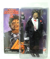 NECA Texas Chainsaw Massacre Part 2 Leatherface in cloth black suit NECA, Texas Chainsaw Massacre, Action Figures, 2016, horror, halloween, movie
