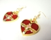 Sailor Moon Cosmic Heart Compact alloy earrings (gold/red) - 10434-10389CCCFTG